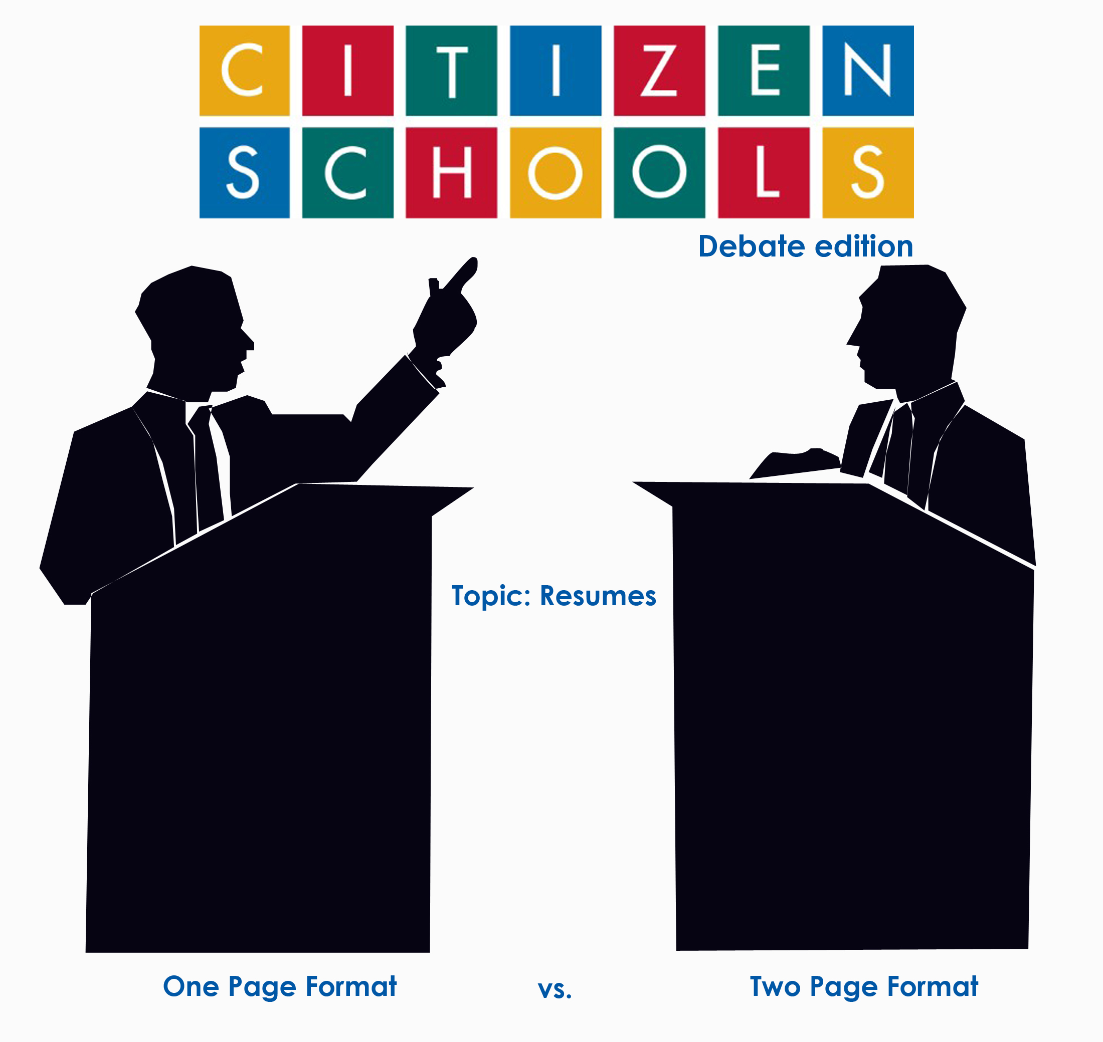 Resume Writing One Or Two Pages Citizen Schools