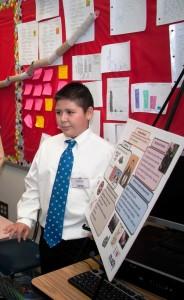Student Wearing Andrew's Tie