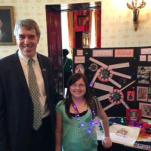 Cassidy with Citizen Schools CEO & Co-Founder Eric Schwarz