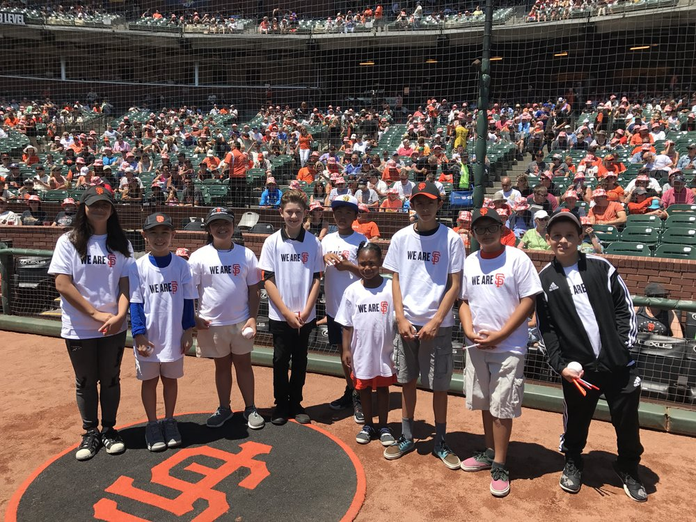 Smiles were infectious on the field at AT&T Park on July 23rd as Citizen Schools' students were able to get on the field and meet players before the game against the San Diego Padres.
