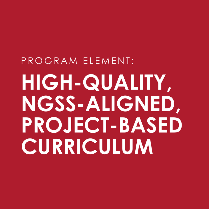 Scaffolded, relevant curricula to support teachers in implementing Catalyst projects.