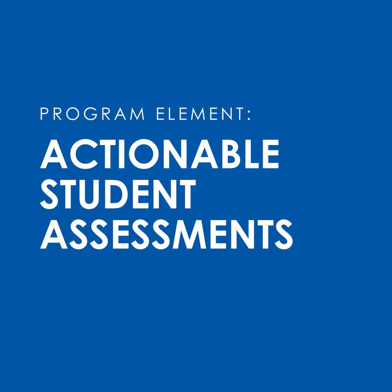 Access to actionable assessments to measure student SEL outcomes and 21st century skills and mindsets. Teachers receive easy to use data reports and supports for action planning.