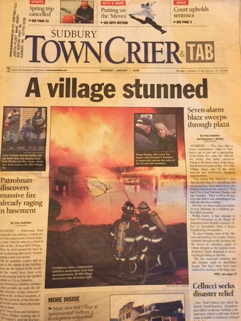 In 1999, the Mill Village building was lost to a catastrophic fire.