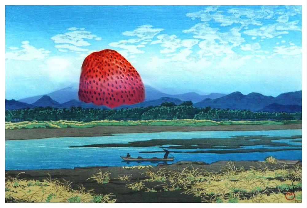 Kawase Hasui x Big Strawberry