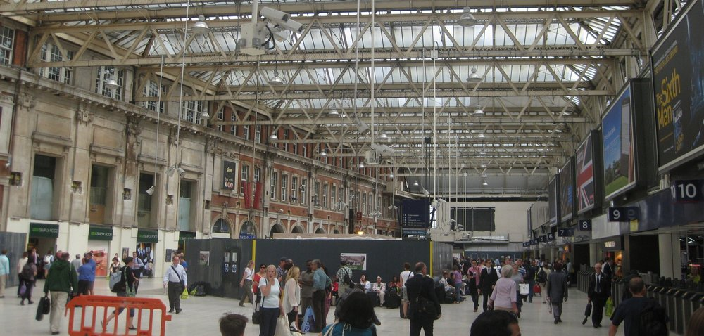 Waterloo Station, London.