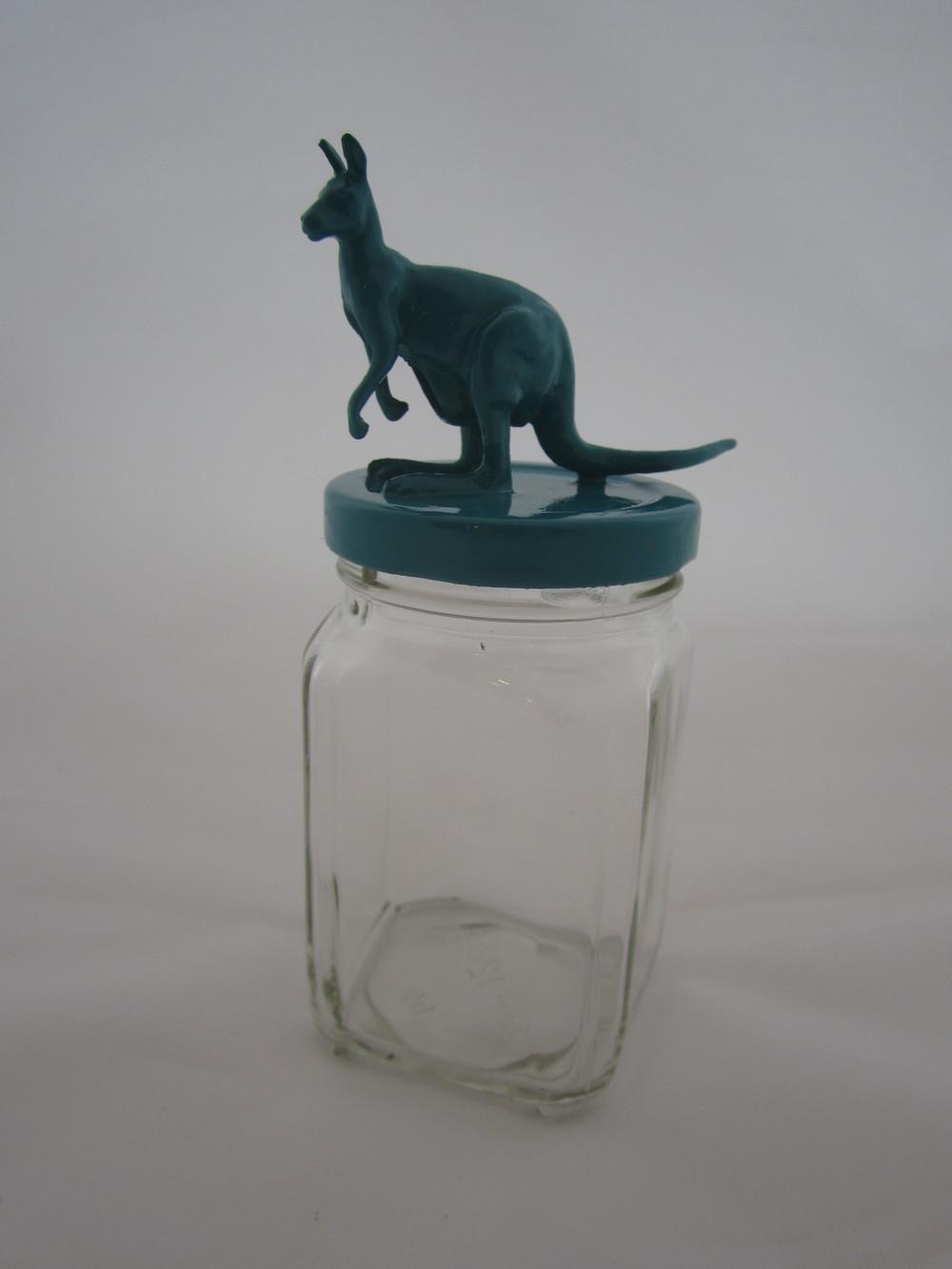 Teal Kangaroo Jar 1.JPG