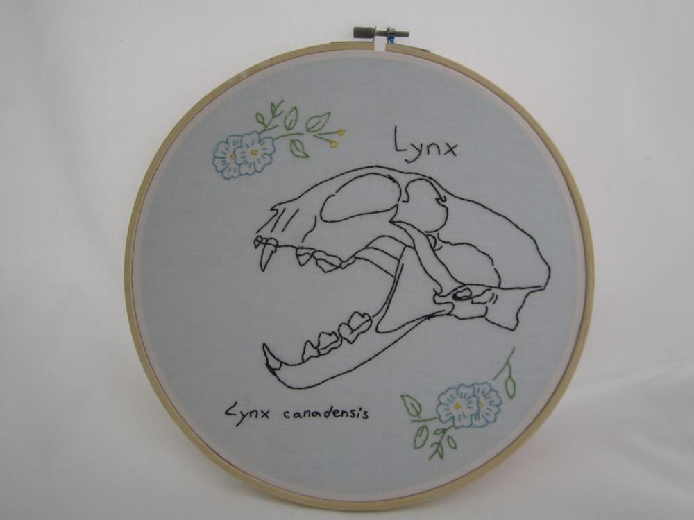Lynx Skull Flowers 1.JPG