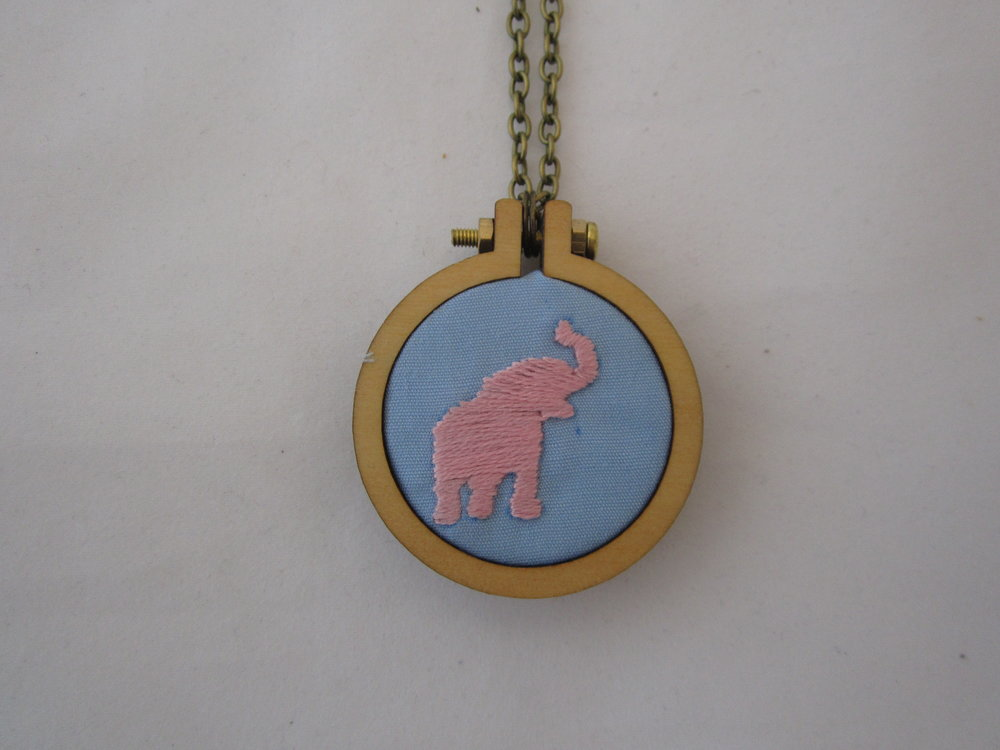 2nd Pink Elephant Mini Hoop Necklace 3.JPG