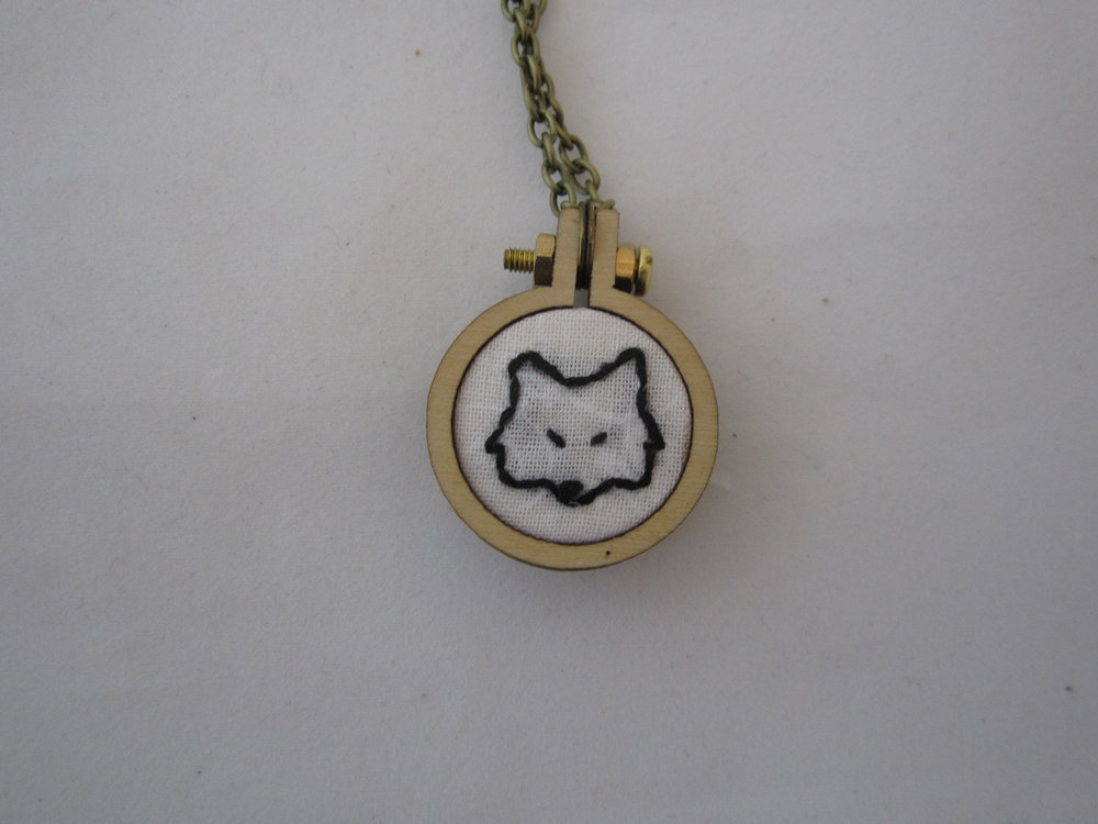 2nd Fox Face Mini Hoop Necklace 3.JPG