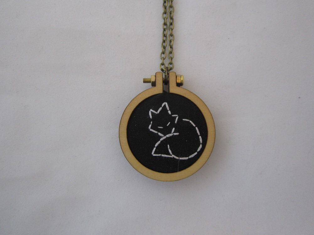 Black Fox Mini Hoop Necklace 3.JPG