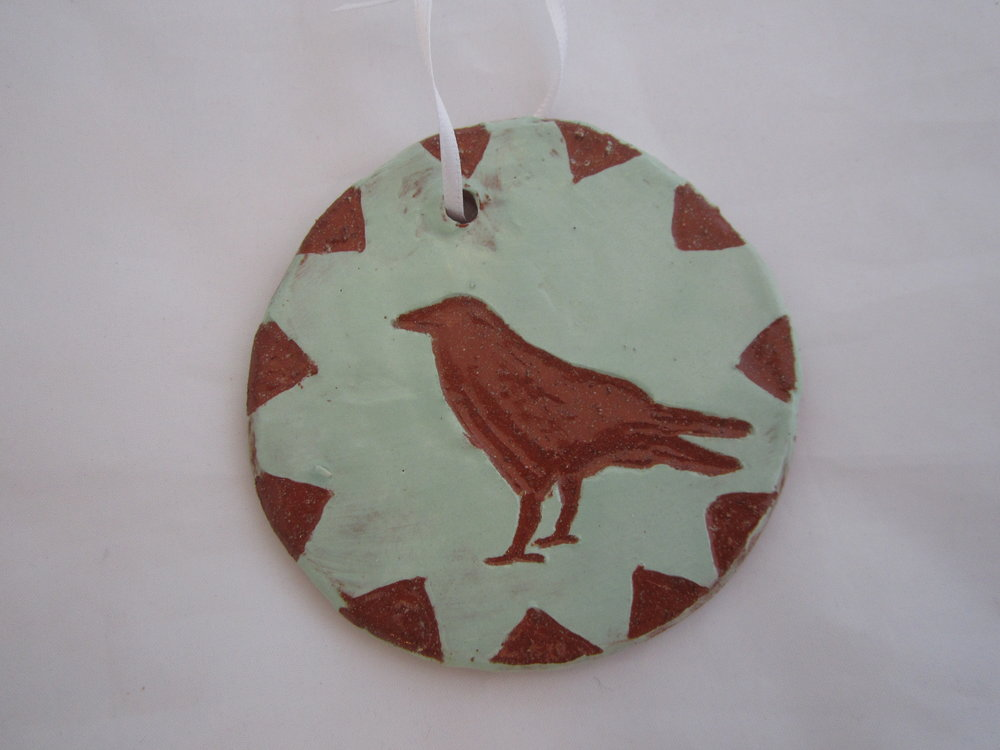 Green Crow Ornament 2.JPG