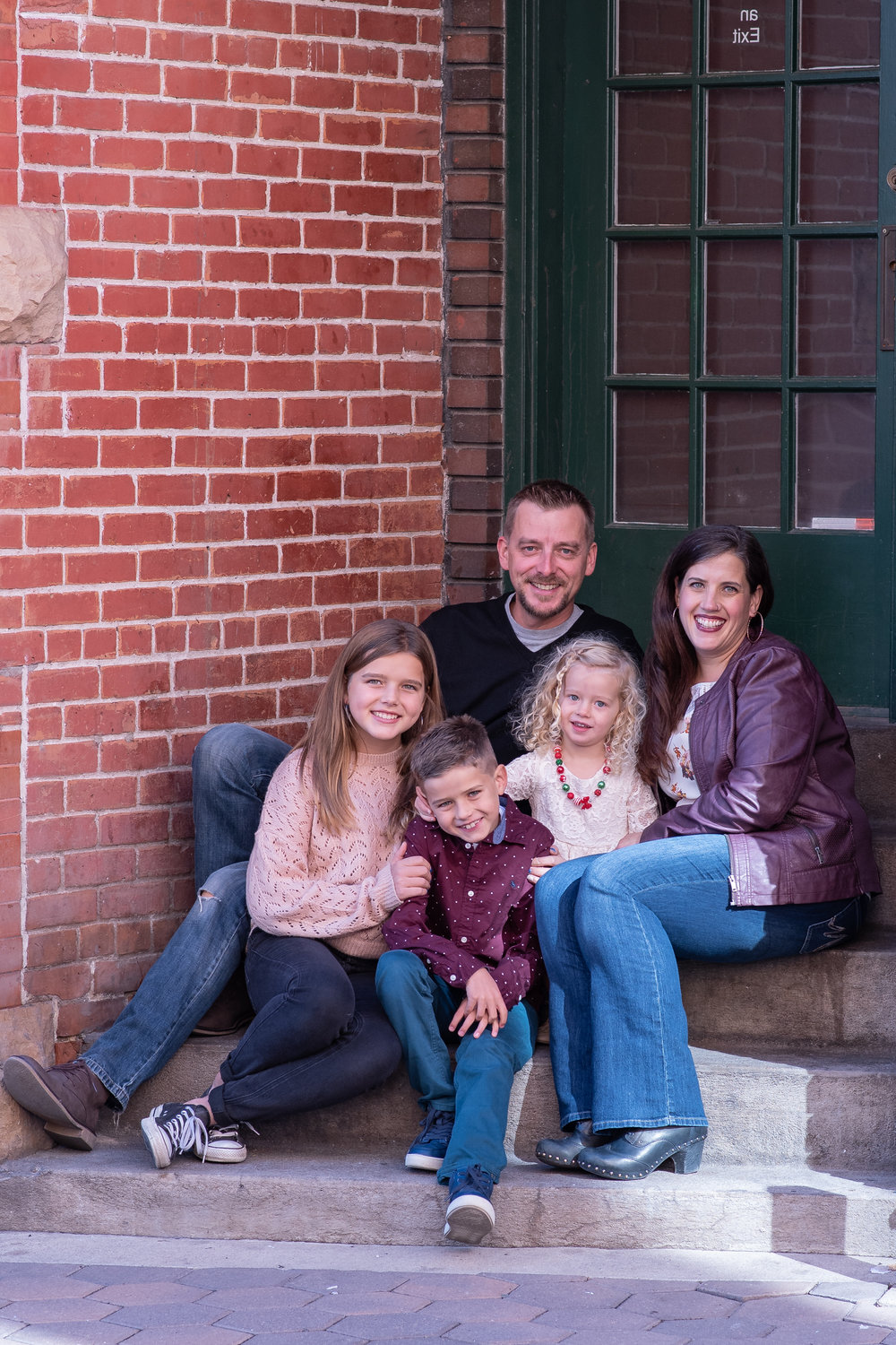 Old Town Fort Collins Family Portraits