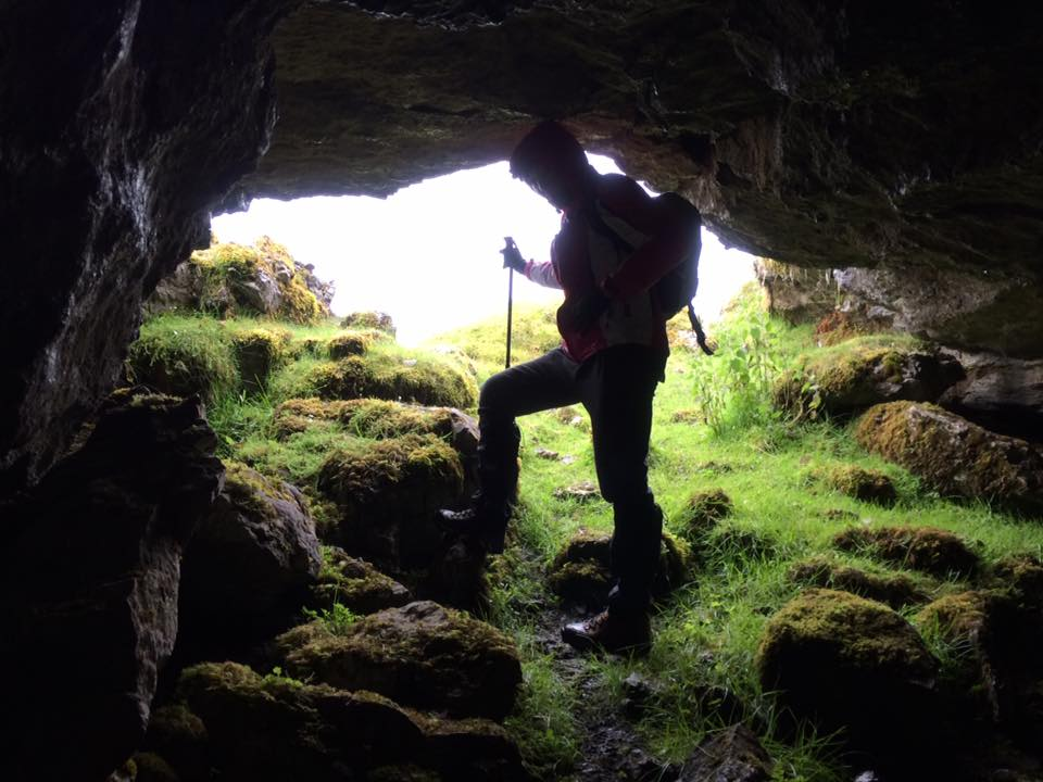 Exploring Cave at Cartonwilliamoge on Benbulben with High Hopes Hiking