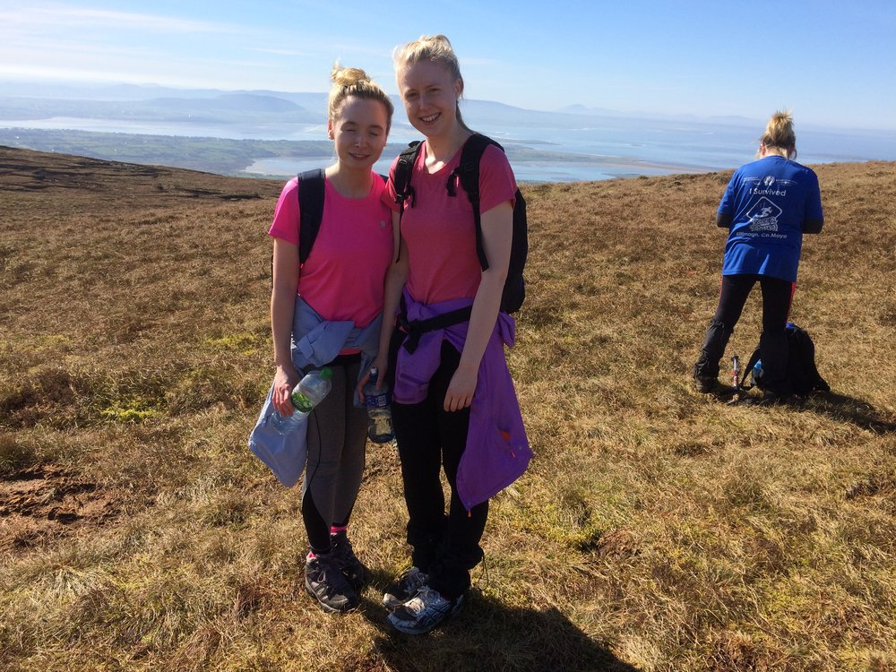 Congratulations to Denise and Aoife who climbed Benbulben today with High Hopes Hiking