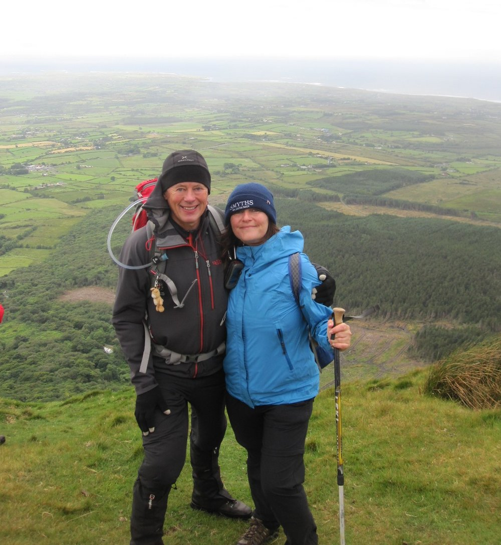 Delighted to have Wendy from San Francisco, originally from Omagh, and assist her in fulfilling her long time ambition to climb Benbulben.