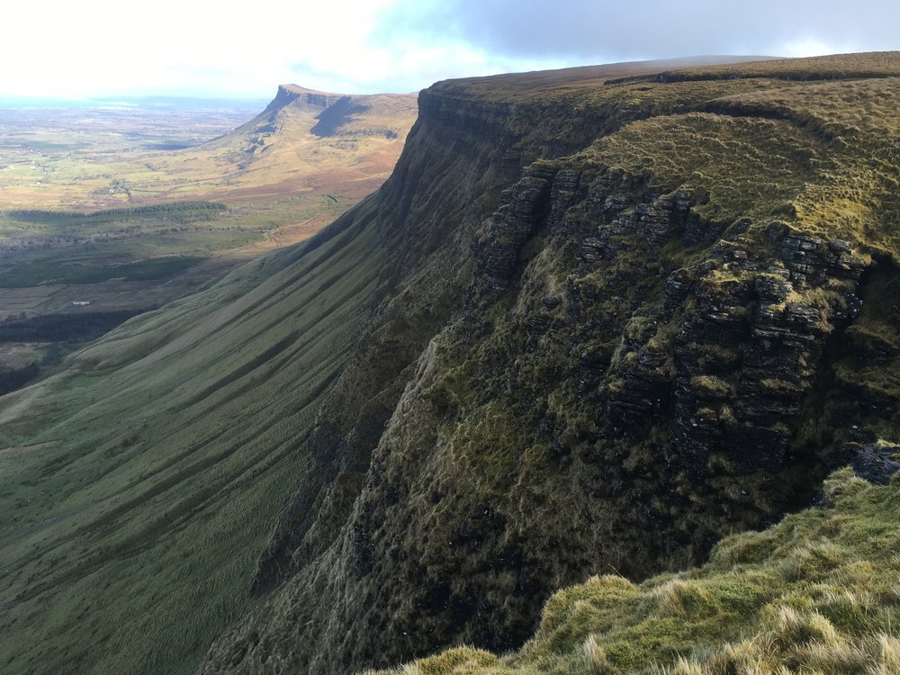 North face of Benbulben with Benwiskin in the background