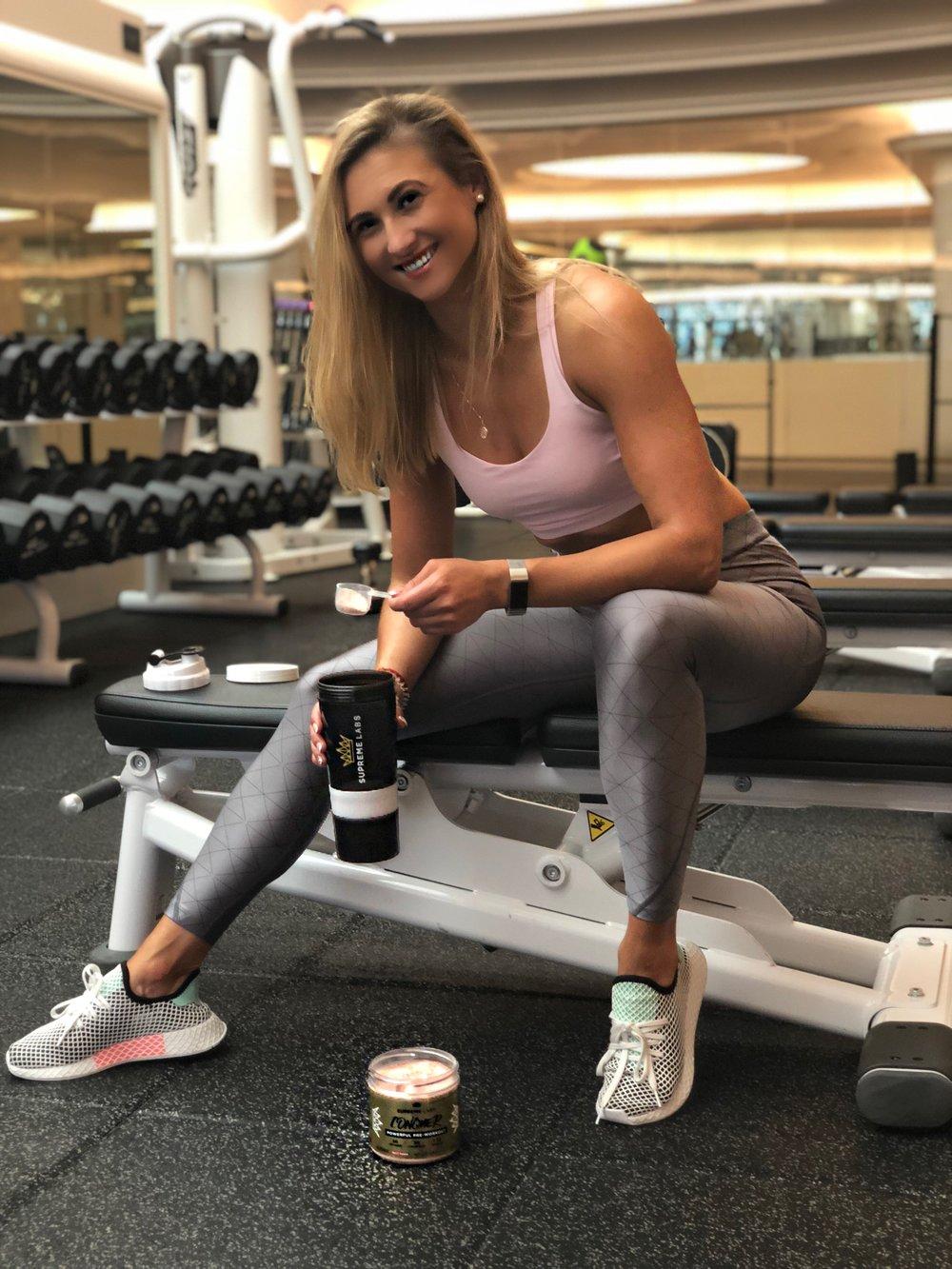 preworkout drink irena putans equinox personal trainer