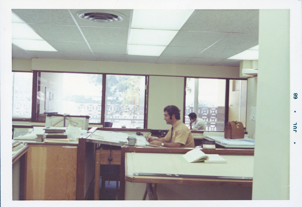 nader at a drafting table in los angeles