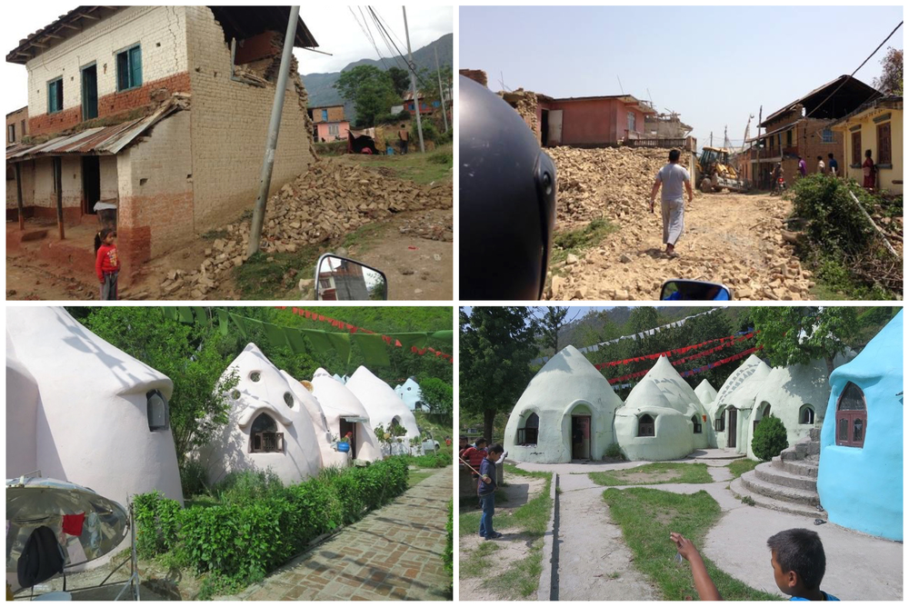 After the 7.6 magnitude earthquake in the Kathmandu valley in Nepal, Cal-Earth Institute pleased with how their patented Superadobe/Earthbag technology fared in contrast to the neighboring homes. The 90 children and caretakers at Pegasus Children's Project Orphanage are safely sheltered by these domes, made of just sandbags and barbed wire.