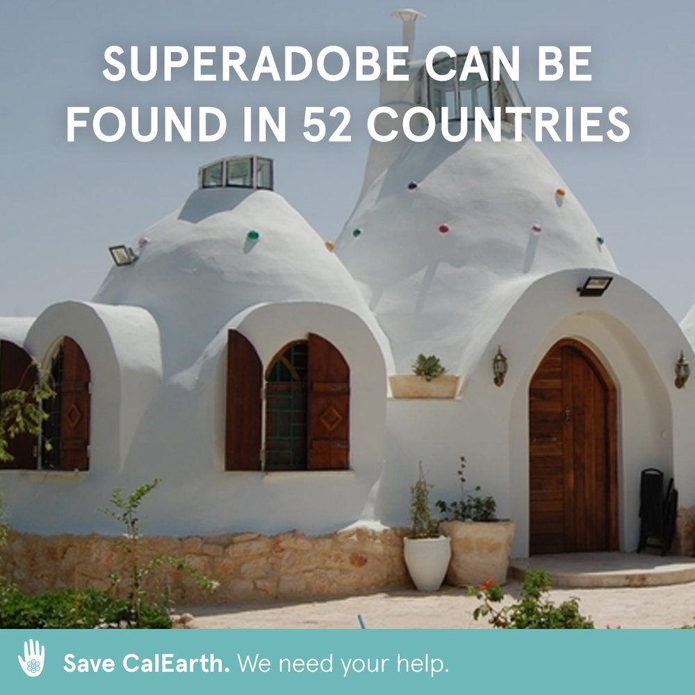 Help save CalEarth. Your donation allows us to continue empowering people all over the world to build a sustainable future.  calearth.org/donate   #calearth #savecalearth #superadobe