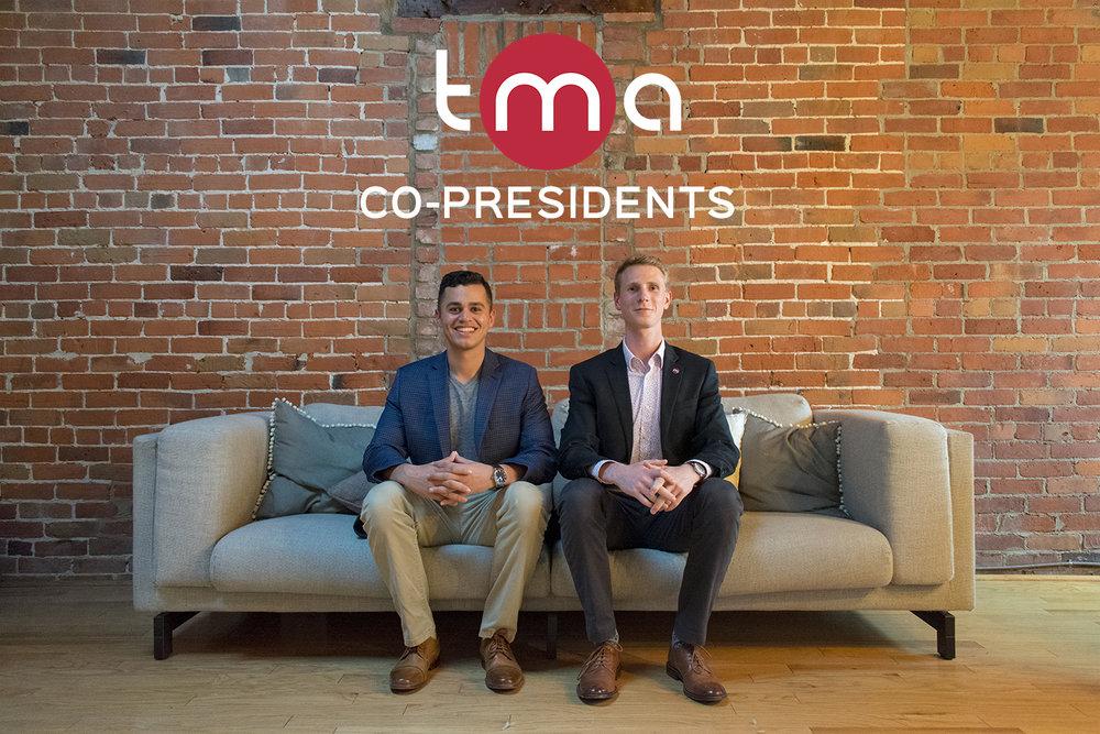 Left to right:  Ben Lidzbarski  (Co-President),  Andrew MacPhie  (Co-President)
