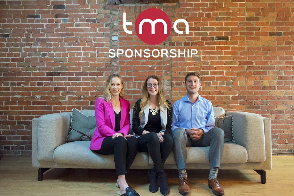 Left to right:  Rebecca Siletto  (Sponsorship Director),  Christine Seguin  (VP External),  Josh Herreman  (Sponsorship Director)