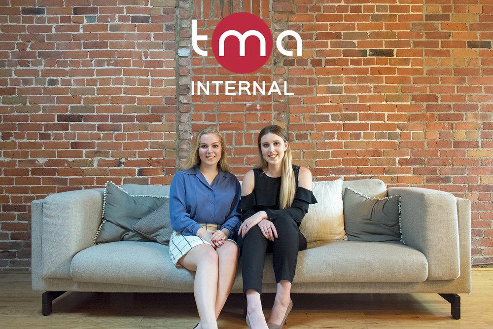 De gauche à droite:  Jennifer Johnston  (VP Affaires internes),  Christine Bolik  (Directrice des abonnements)