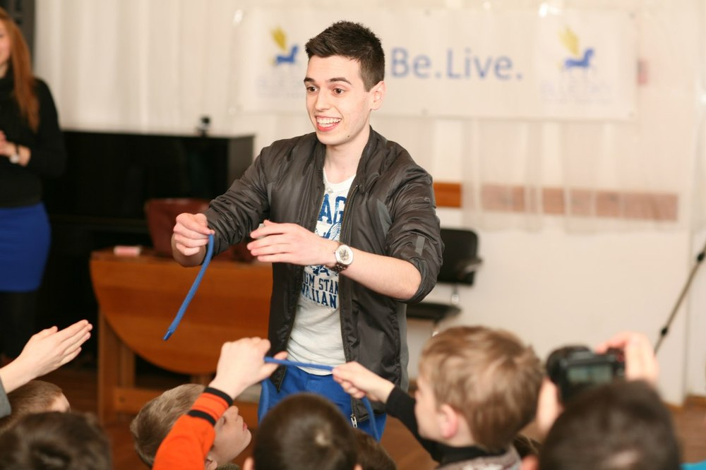 Performing at the Borovlianu SOS Children's Village.