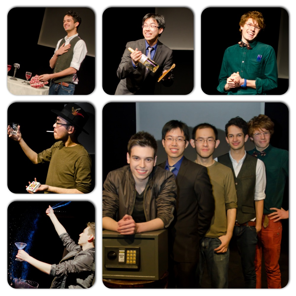 Cast, main pic (L-R): Edward Hilsum, Sunny Yu, Harapan Ong, Marcus Ghosh & Tom Sanderson.