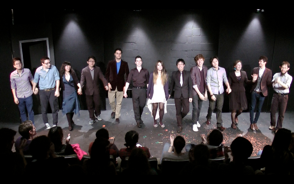 The Cast (L-R): Geoff, Isaac, Thuong Thuong, Eric, Andreas, Ed, Harriet, Sunny, Tom, Derek, Lara, Marcus & Harapan.