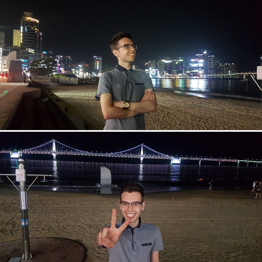 Gwangalli Beach & Gwangandaegyo Bridge.
