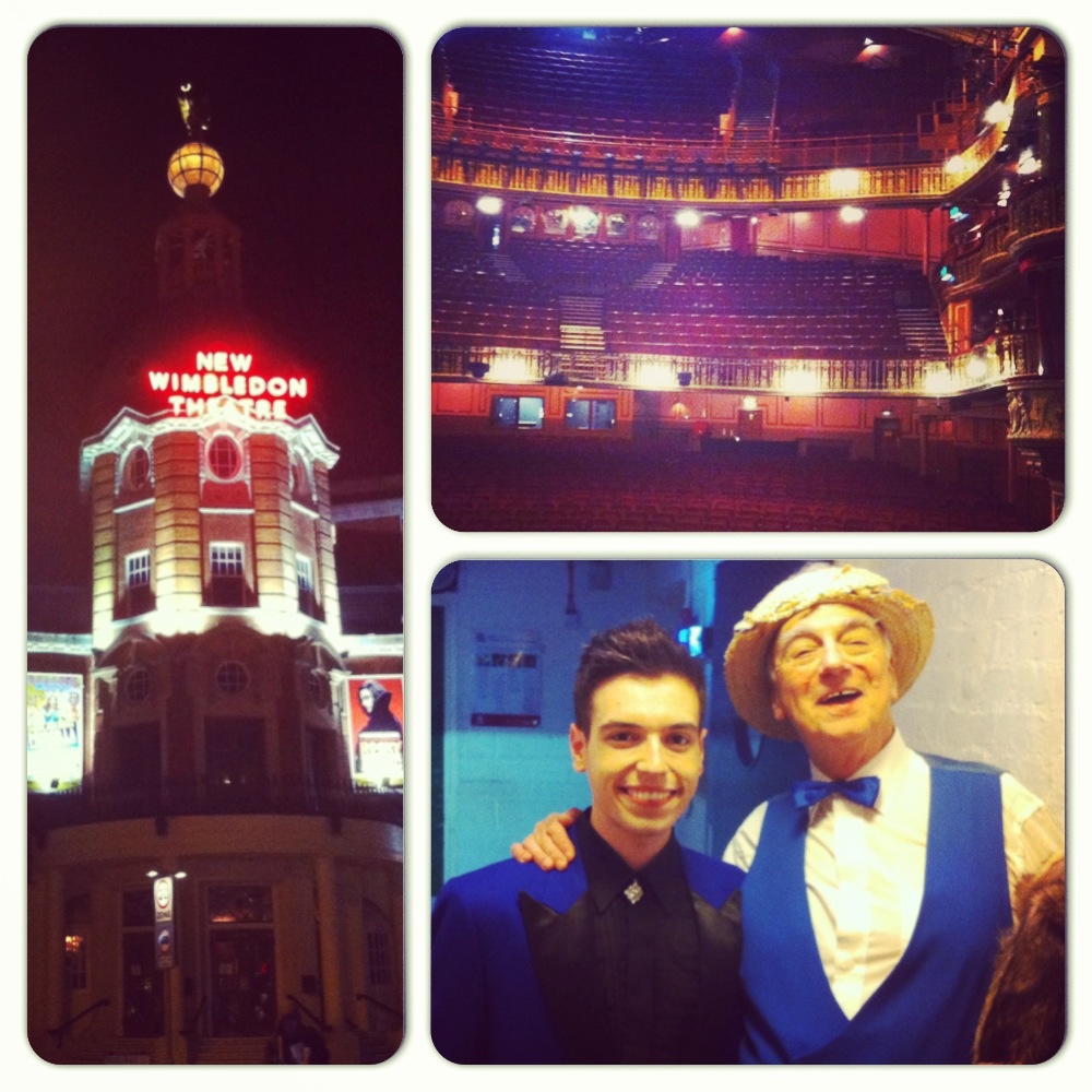 My first visit to the New Wimbledon Theatre with 'The Magnificent Music Hall' back in January 2013, sharing the stage with the legendary Roy Hudd!