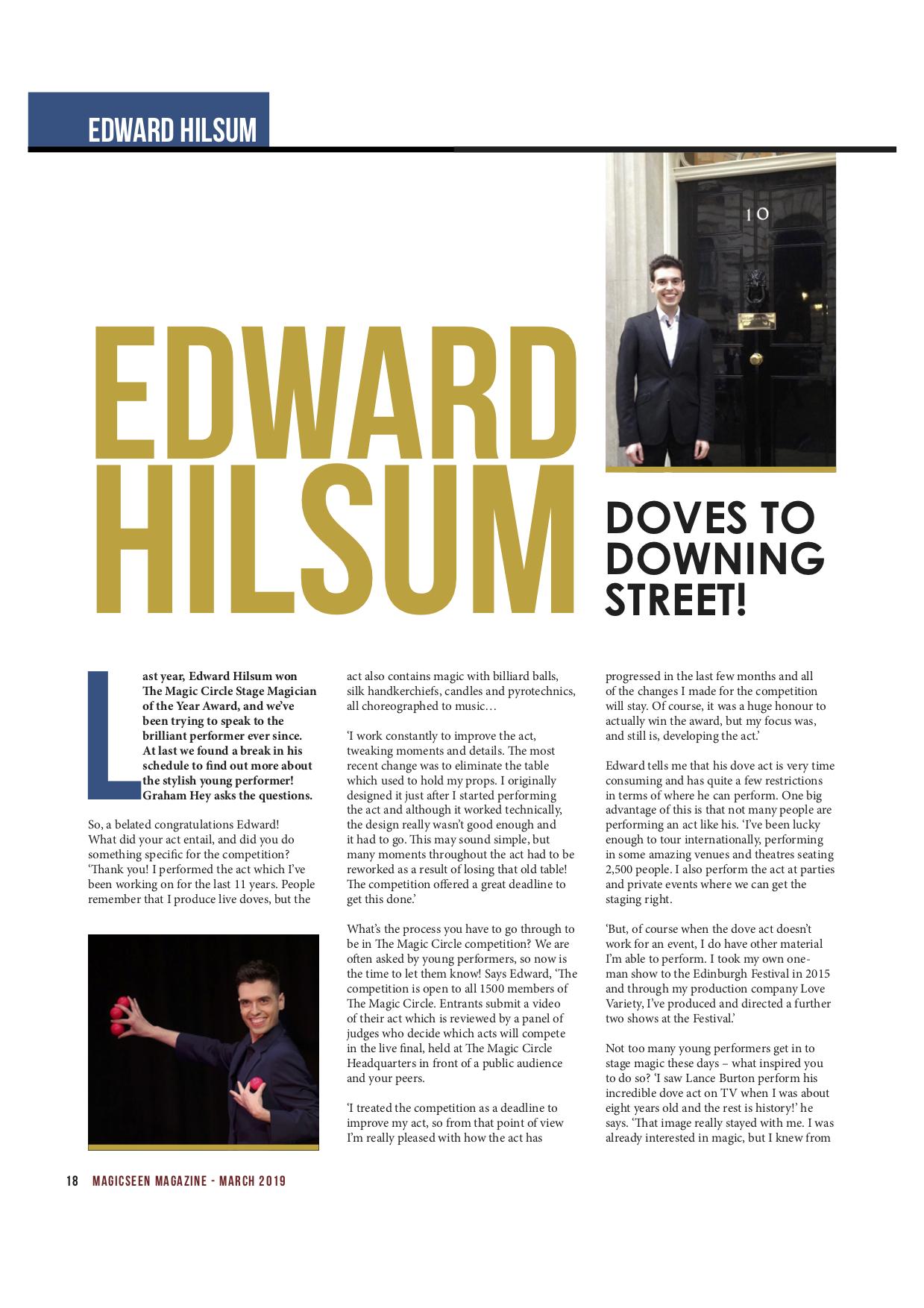 Magic Interview — Edward Hilsum