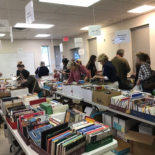 Thanks to everyone who came down and bought a bag or more of books! We had a great time and raised over $2000 for the library!
