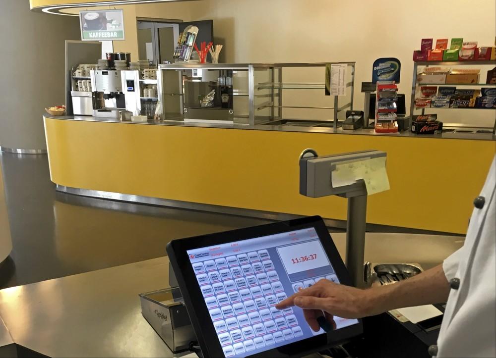 Die Touchscreenbedienung gehört zum Standard im modernen Catering.