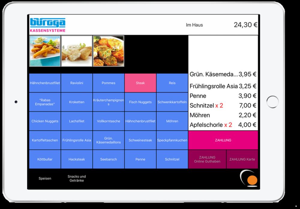 Ipad-Kassen - +mobil und flexibel+ online- und offline nutzbar+Datenbank in der Cloud+Bluetooth-Leser+Bluetooth-Bondrucker