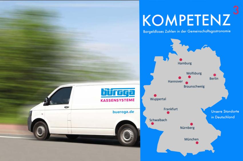 Regional & Bundesweit - durch unsere Niederlassung in Wuppertal und Schwalbach, sowie unsere Partner der Kompetenzgroup...