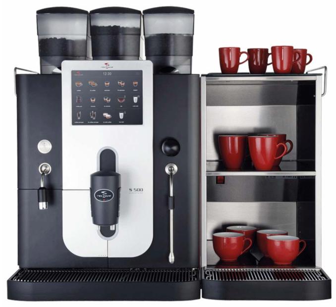 Rex royal s500 ct - Die Rex-Royal S500 CT gehört zu den leistungsstärksten, vollautomatischen Kaffeemaschinen im HoReCa-Markt. Mit einer Vielfalt an Kaffeegetränken und mit einer Heisswasserleistung von bis zu 58 Litern pro Stunde, erfüllt sie die höchsten Ansprüche der professionellen Gastronomie.
