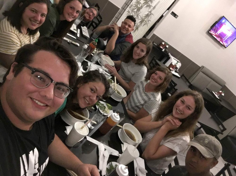 Some of the interns from i6eight were able to visit us and we enjoyed a delicious Vietnamese meal together.