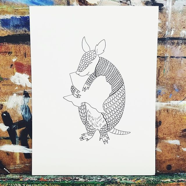 There's a Louisiana lovin' alligator, and a California lovin' bear, so how bout a Texas lovin' armadillo? Texas has recently experienced extraordinary moments of celebration, strength, and mourning. It deserves some love. I'm  thinking about making some tote bags and hand embroidering a ❤️ over requested cities. What do you think? #houstonstrong #earnedhistory #gostros
