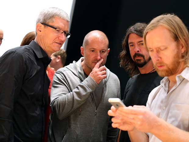 Tim Cook, Jony Ive, Dave Grohl, and Nathan Mendel