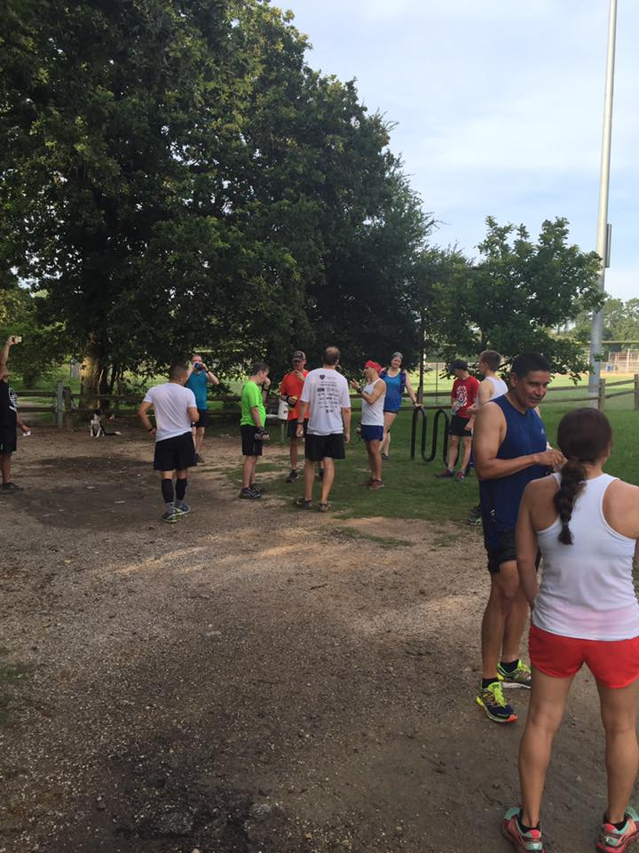 Nice turnout at the HATR Memorial Day Run!