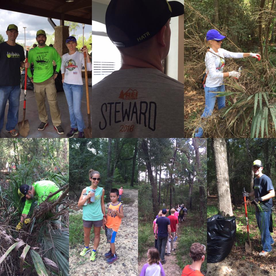 HATRs volunteering at George Mitchell Nature Preserve as part of National Lands Day