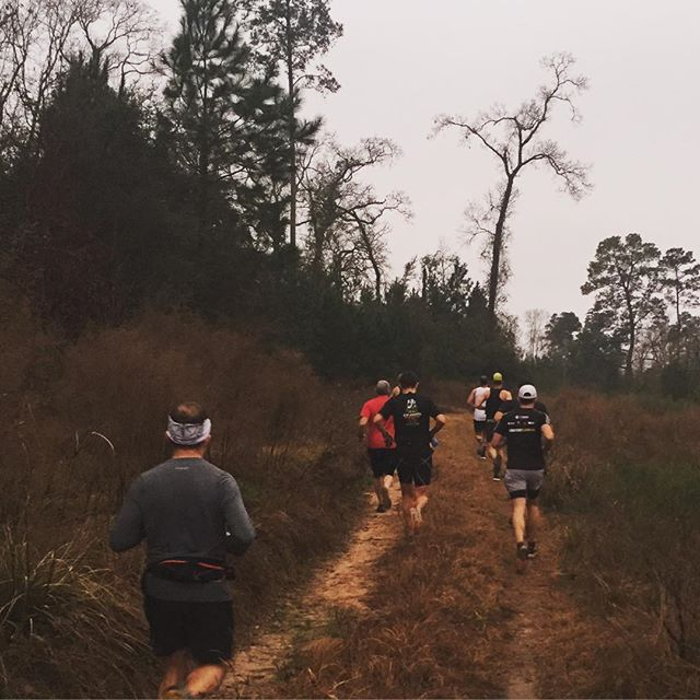 Exploring new trails for some of us at #georgemitchellnaturepreserve  Winter running in Houston Texas!  #runhouston #houstonrunning #hatr
