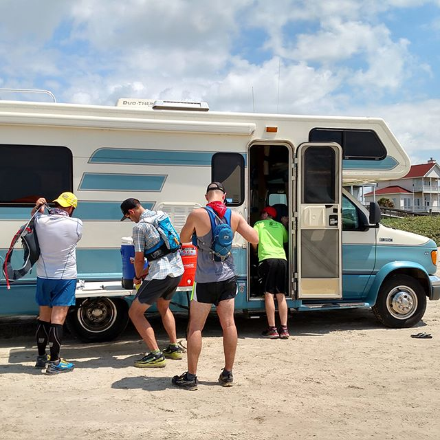 This past Saturday several #runners ran the HATR Galveston Island Beach Classic Free 50k. It was a fatass event with a traveling aid station. The RV air conditioning, restroom and @skratchlabs hydration were dearly needed as we ran the beach from one end to the other. Runners are the best people to spend a day at the beach with! #galvestonisland #trailrunners #runforfun #challengeyourself #beachrun #skratchlabs #pointtopoint