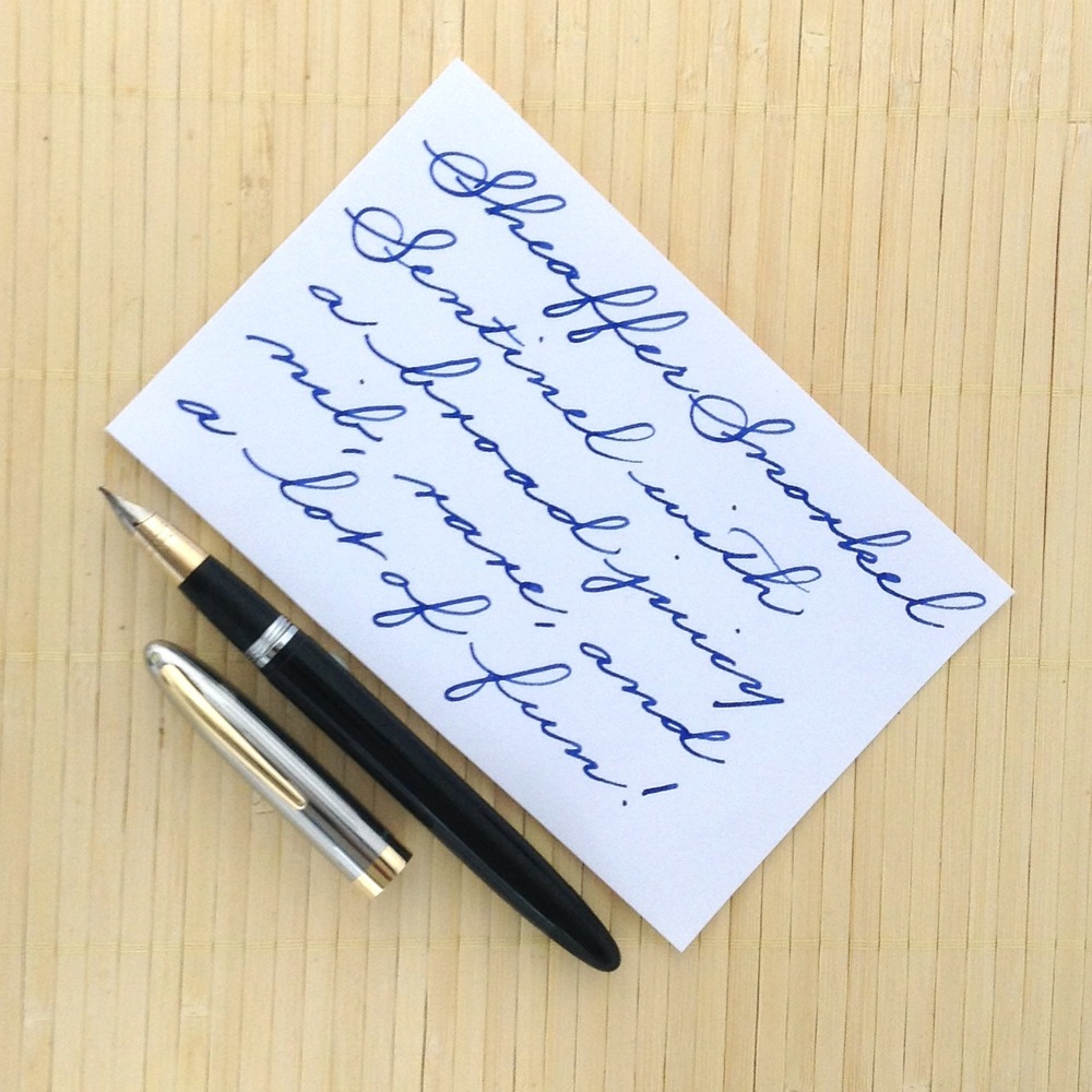 Sheaffer Snorkel Sentinel with a broad nib