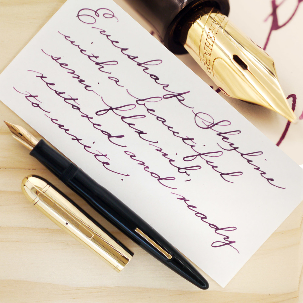 Eversharp Skyline with a soft, semi-flex 14k gold nib