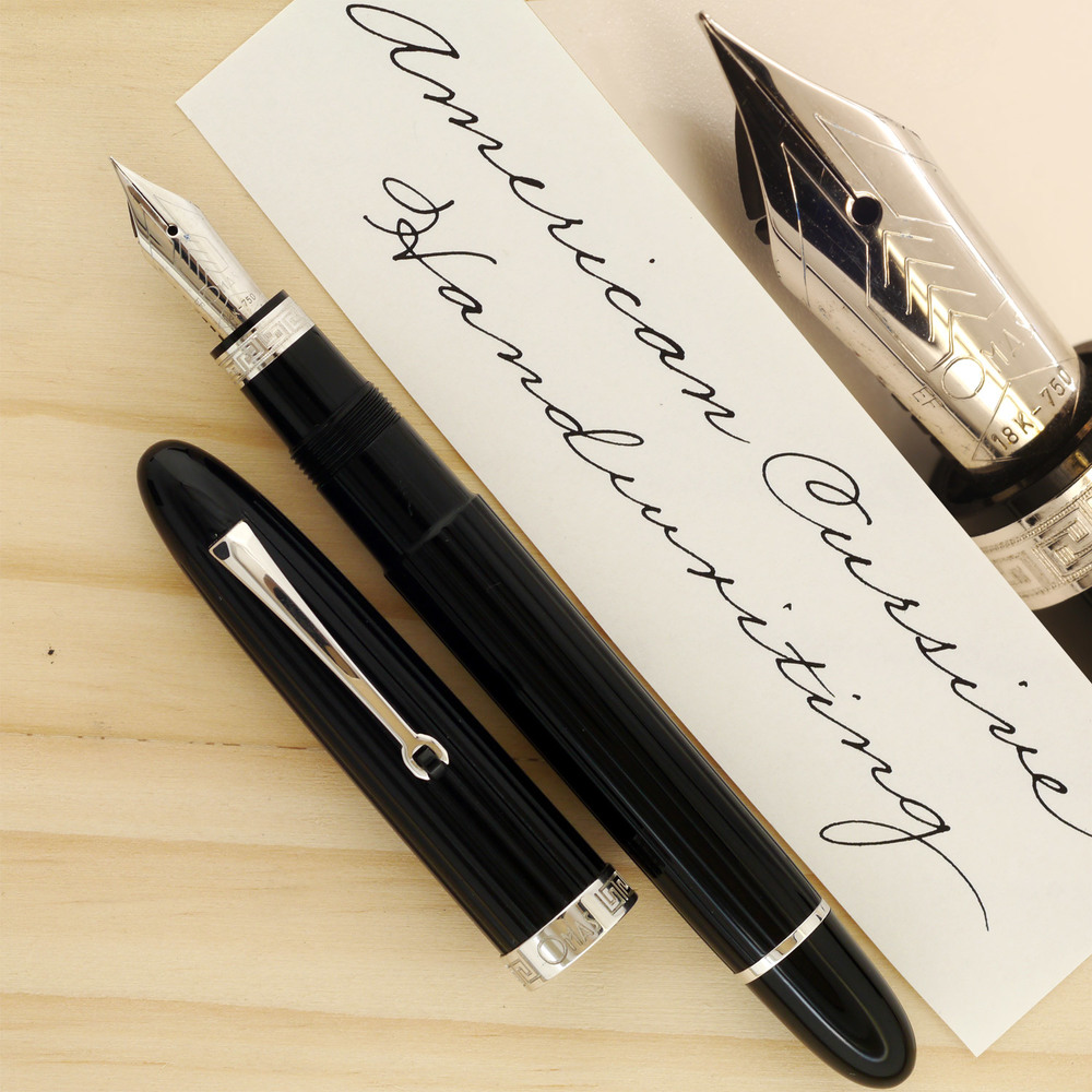 OMAS Ogiva XF, sample done with Pelikan 4001 Brilliant Black ink
