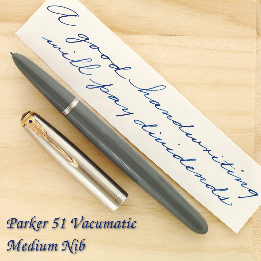 Parker 51 Vacumatic in Dove Gray with a Medium nib (1948)
