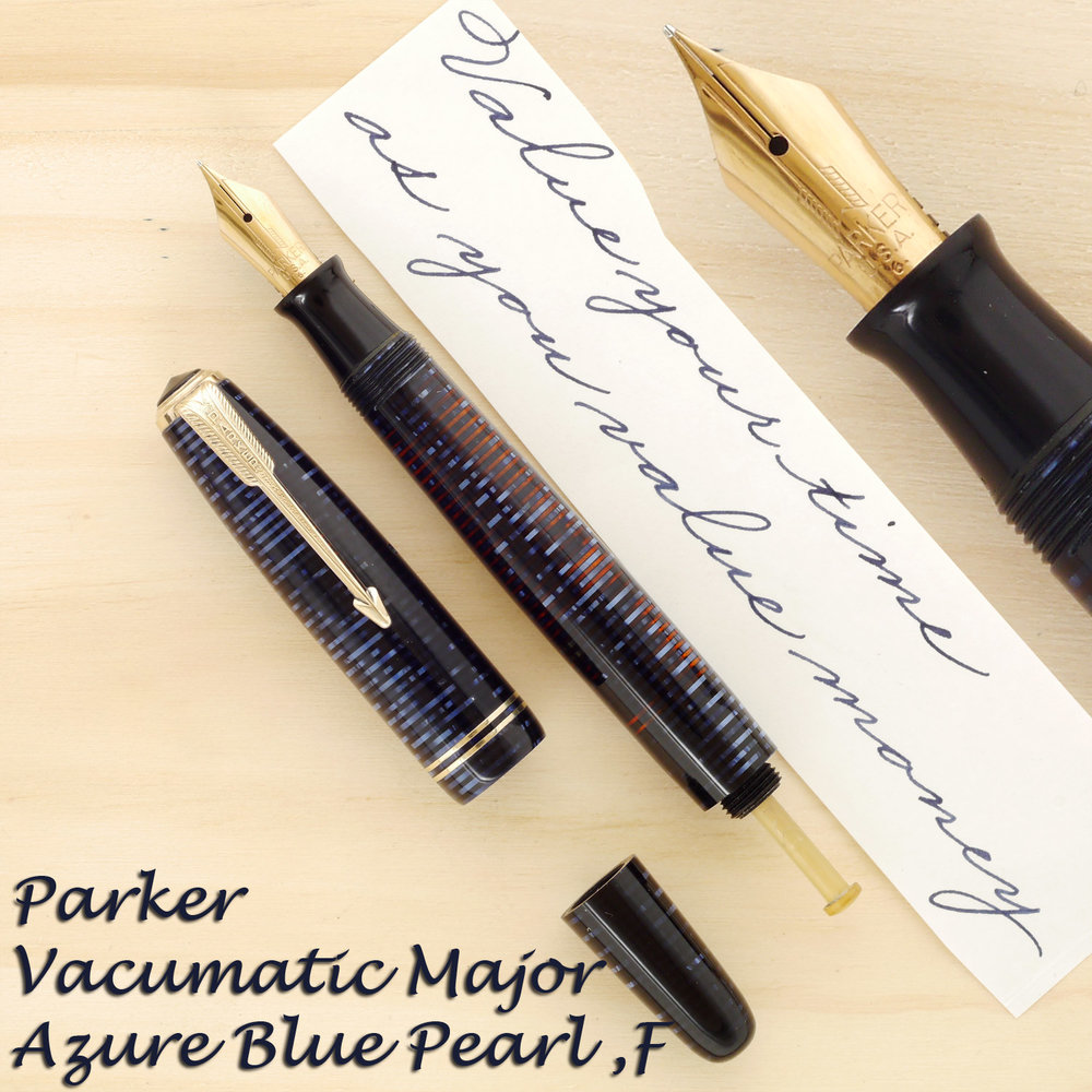 Parker Vacumatic in Azure Blue Pearl